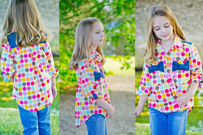 Hi-Lo Hem on View C - Bookworm Button Up Sewing Pattern for Boys and Girls - Blank Slate Patterns
