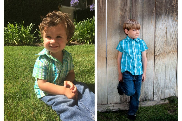 View B - Bookworm Button Up Sewing Pattern for Boys and Girls - Blank Slate Patterns