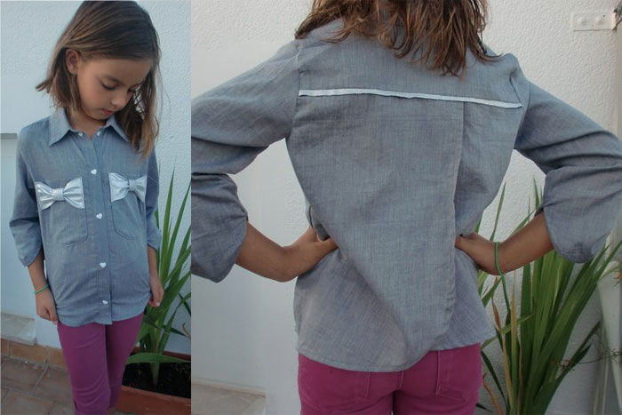 Back of View D - Bookworm Button Up Sewing Pattern for Boys and Girls - Blank Slate Patterns