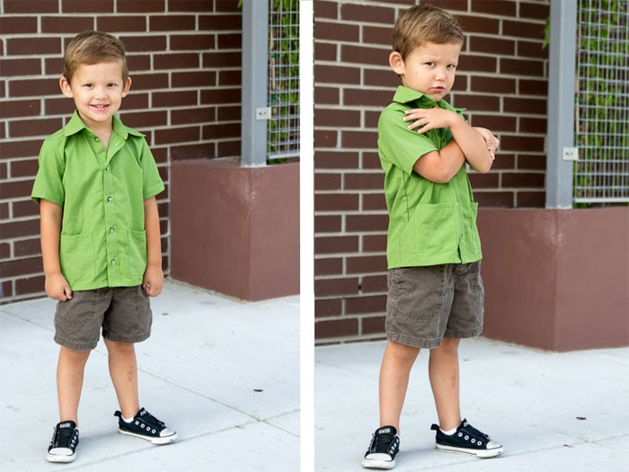 perfect for boys or girls - tons of variations! Bookworm Button Up Shirt Sewing Pattern for Boys and Girls by Blank Slate Patterns
