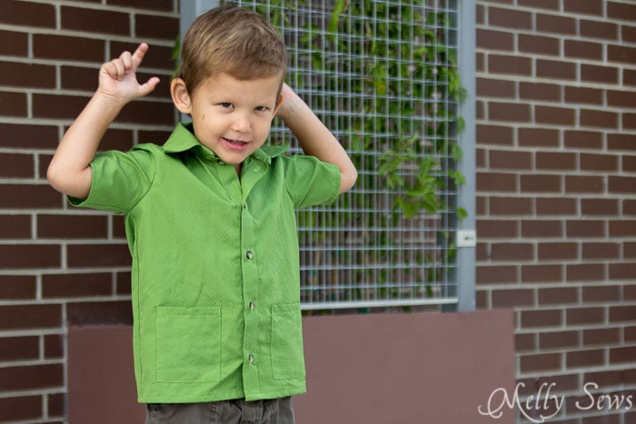 Casual shirt sewing pattern - Bookworm Button Up Shirt Sewing Pattern for Boys and Girls by Blank Slate Patterns