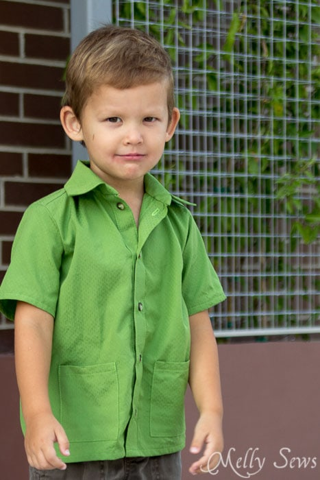 Cute button up for a little boy - Bookworm Button Up Shirt Sewing Pattern for Boys and Girls by Blank Slate Patterns