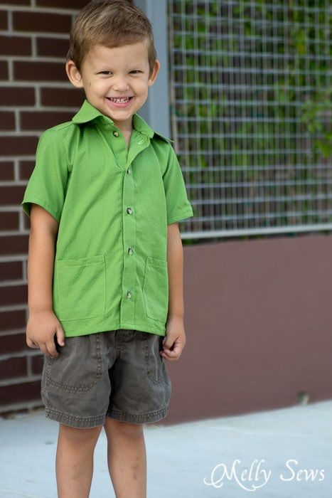 Such great options in this pattern! Bookworm Button Up Shirt Sewing Pattern for Boys and Girls by Blank Slate Patterns