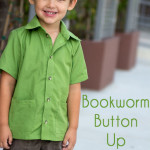 Bookworm Button Up Shirt Sewing Pattern for Boys and Girls by Blank Slate Patterns