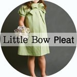 Blank Slate Patterns Little Bow Pleat Dress