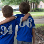 Brothers in football jerseys - can this get any cuter? Pattern by Blank Slate Patterns