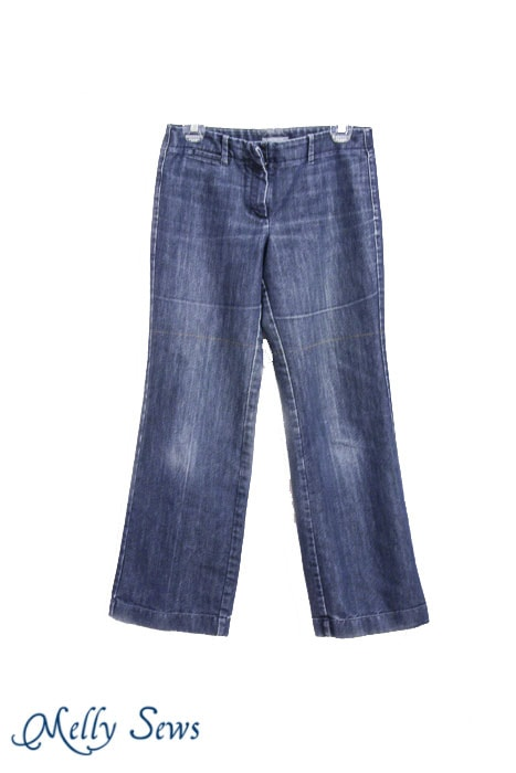 Trouser jeans make great cut off shorts