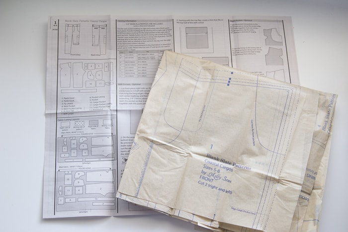 Blank Slate Patterns Coastal Cargos in Paper Format