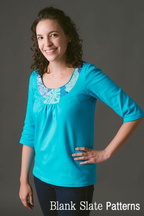Rose T- shirt Sewing Pattern by Blank Slate Patterns