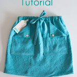 Easy Skirt Tutorial – Drawstring with Pockets