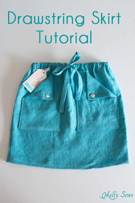 Easy drawstring skirt - sew one in any size!