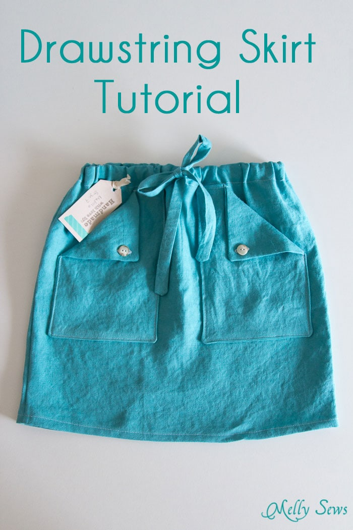 Easy Skirt Tutorial Drawstring With Pockets Melly Sews