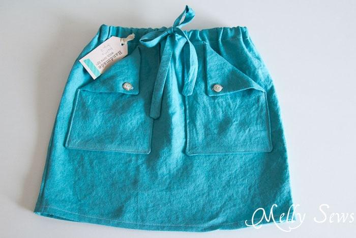 Tutorial de falda con cordón: ¡fácil de hacer en cualquier tamaño!