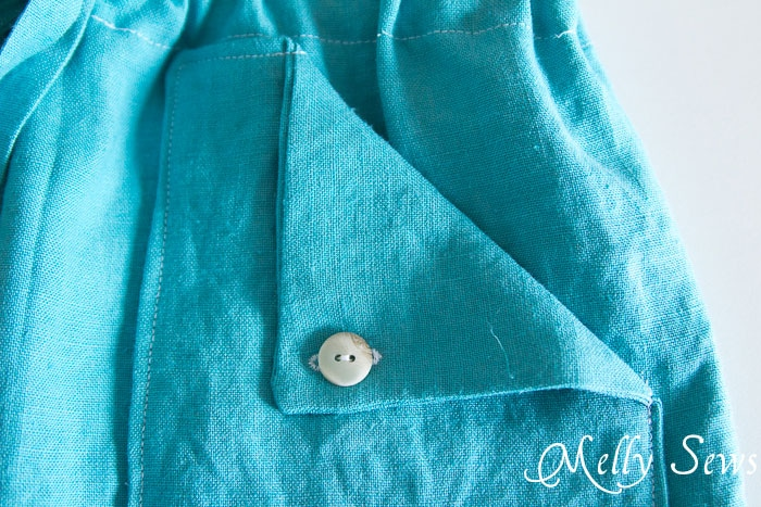 Pocket Detail - Drawstring Skirt Tutorial