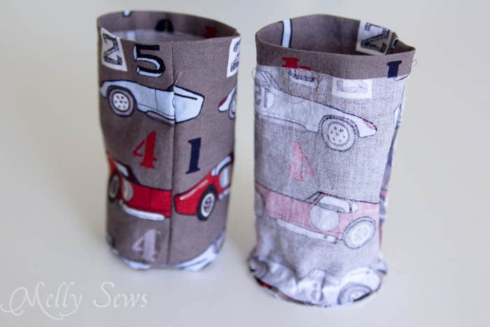 Step 8 -Water bottle holder - tutorial by Melly Sews