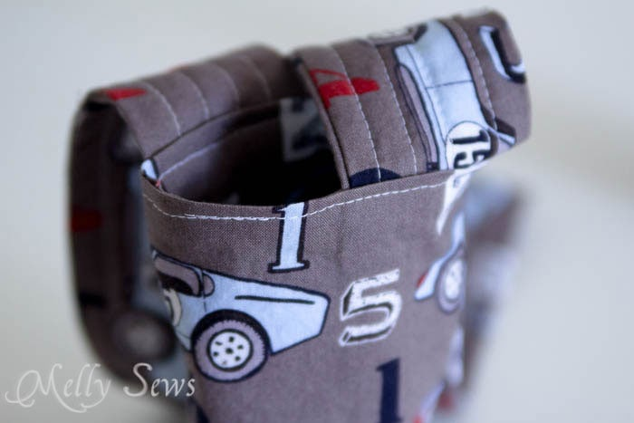 Step 9 - Water bottle holder - tutorial by Melly Sews