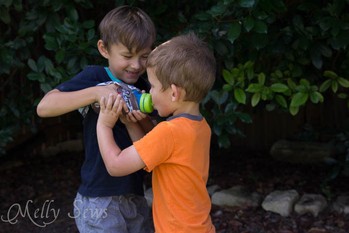 Share your water bottle with your brother - Melly Sews