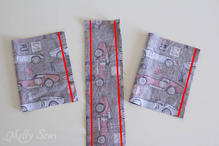 Step 2 - Water bottle holder - tutorial by Melly Sews
