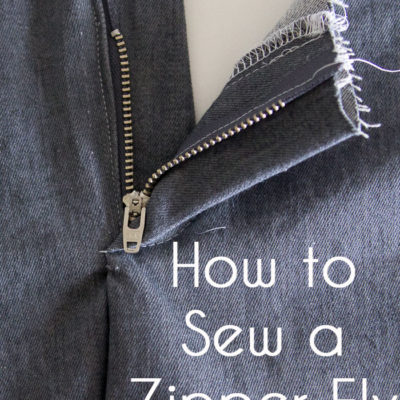 Sewing a Zipper Fly