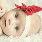 Poinsettia headband by Melly Sews