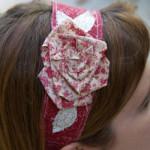 Frayed flower headband by Flamingo Toes
