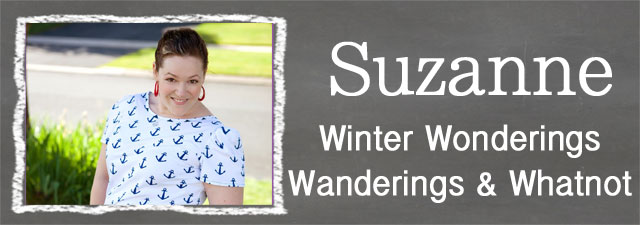 Suzanne of Winter Wonderings, Wanderings and Whatnot