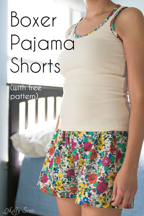 graphic relating to Free Printable Toddler Shorts Pattern identify Sew Pajama Shorts - Uncomplicated Venture with Totally free Behavior - Melly Sews