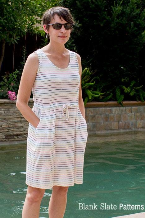 Love the pockets! Catalina Dress Pattern - Tank Version - by Blank Slate Patterns