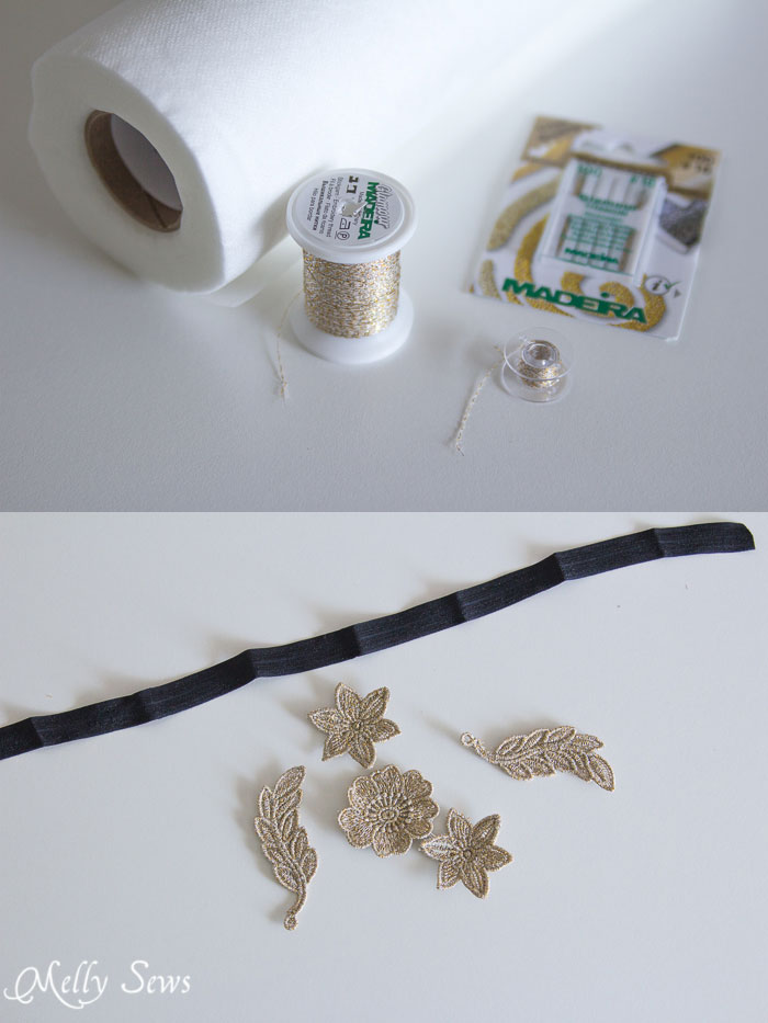 Materials - Freestanding Lace Headband DIY Tutorial - Melly Sews