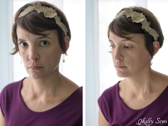Love the 1920s vibe on this lace headband! Freestanding Lace Headband DIY Tutorial - Melly Sews