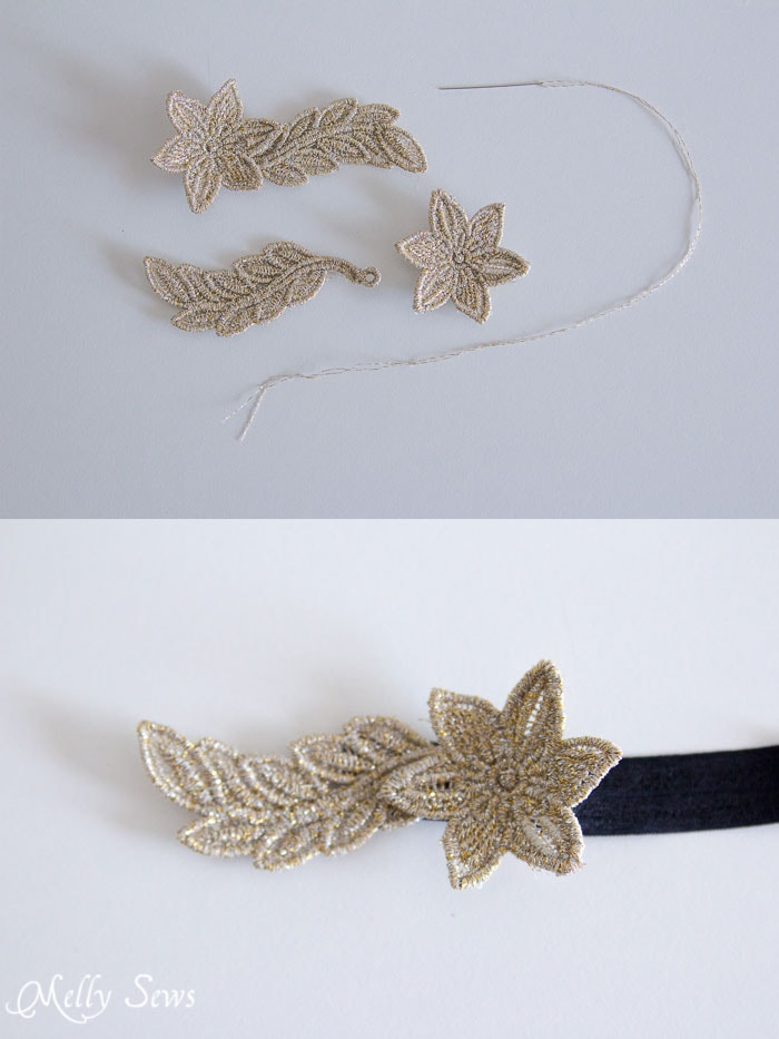 Step 3 - Freestanding Lace Headband DIY Tutorial - Melly Sews
