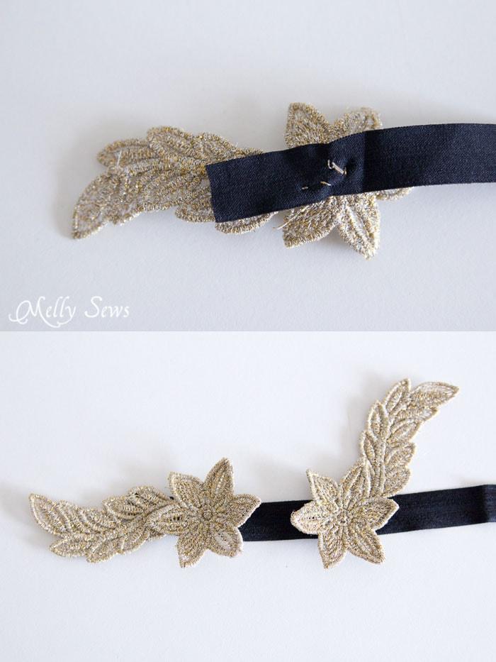 Step 4 - Freestanding Lace Headband DIY Tutorial - Melly Sews
