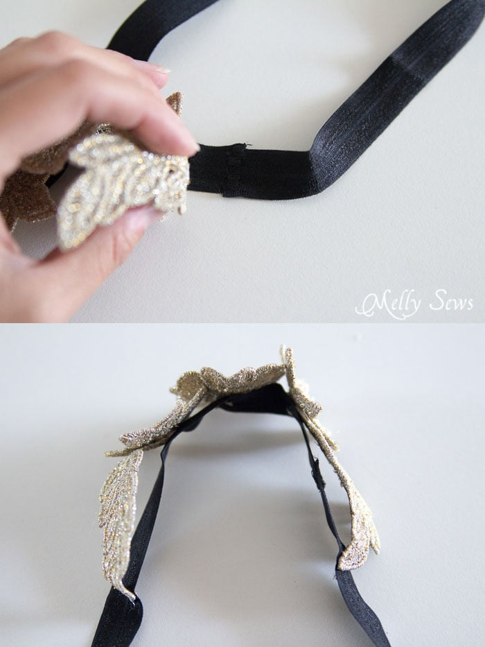 Step 5- Freestanding Lace Headband DIY Tutorial - Melly Sews