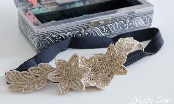 Another use for an embroidery machine - Freestanding Lace Headband DIY Tutorial - Melly Sews