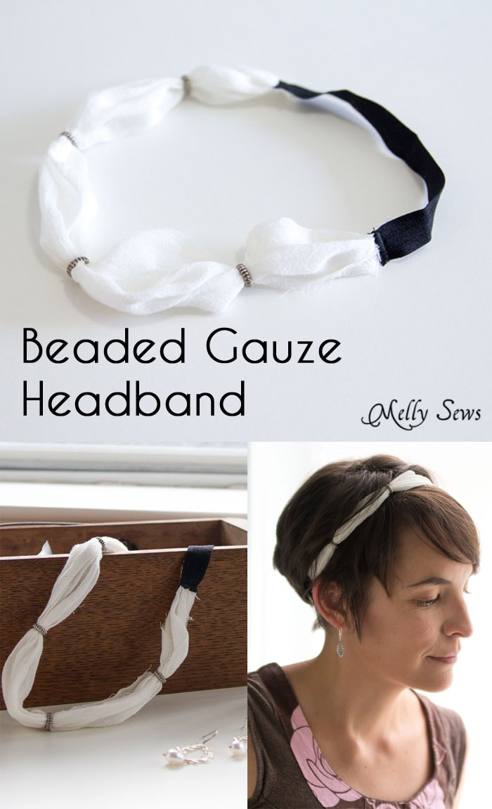 How to make a gauze headband - tutorial, plus style tips for headbands with short hair