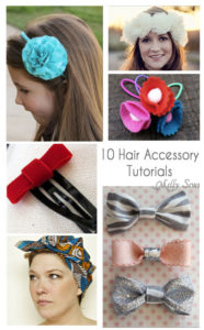 10 Hair Accessory Tutorials to sew and make - Melly Sews