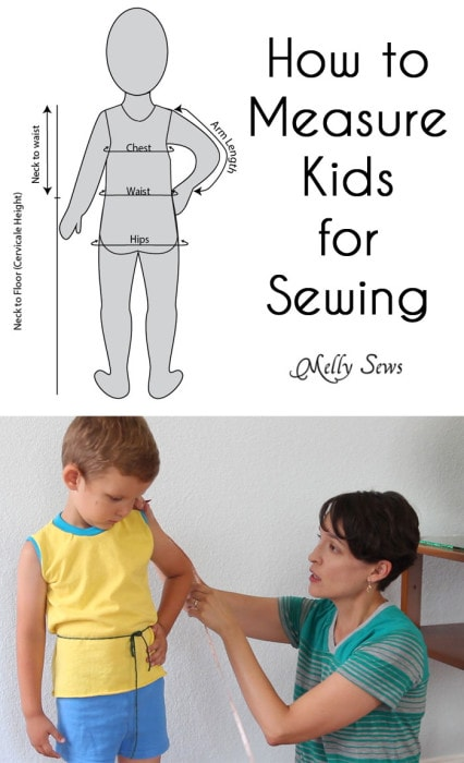 How to Measure Kids for Sewing - with Free Printable!