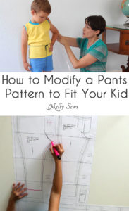 How to modify pants pattern to fit your kid - Melly Sews