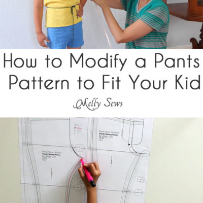 How to Modify – Pants Pattern Fitting for Your Kid