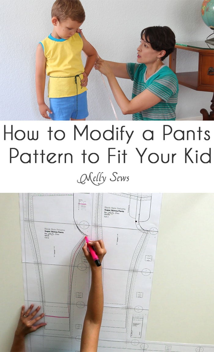 How to modify pants pattern- pants pattern fitting for your child - Melly Sews