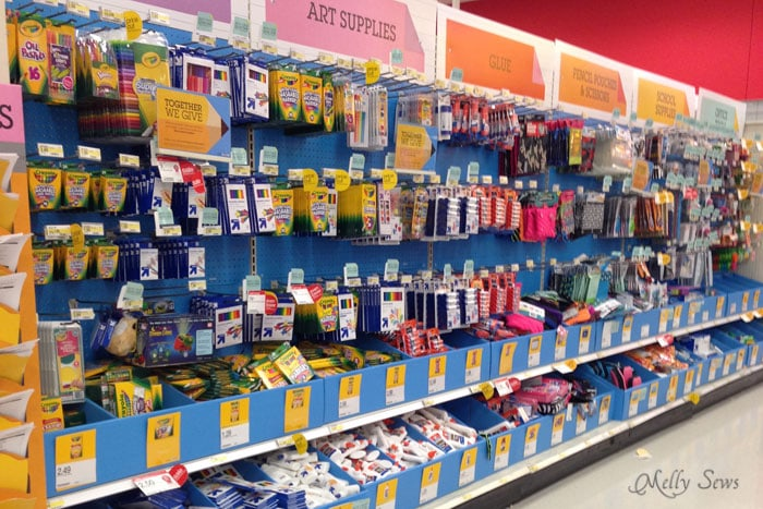 Shop the school supply aisle for great deals on sewing notions - Melly Sews