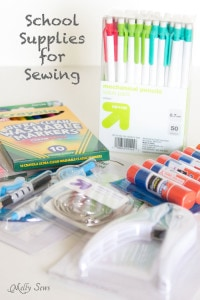 Buy school supplies -save on sewing notions! - Melly Sews