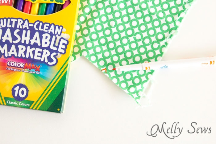 Washable markers to mark fabric - school supplies for sewing