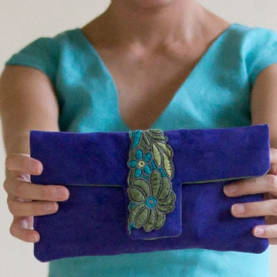 Suede Clutch Tutorial (plus free pattern)