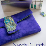 Suede Clutch Tutorial with free pattern - Melly Sews