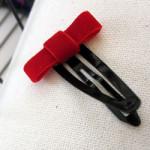 Bow hair clips by Rae Gun