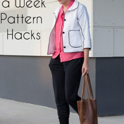Lengthen Bodice into a Shirt – 8 Days a Week Pattern Hack