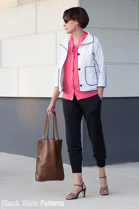 Make a zippered jacket into a button up - Melly Sews - 8 Days a Week sewing patterns by Pattern Anthology