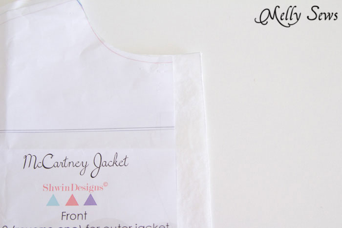 Front - McCartney Jacket pattern hack - Melly Sews