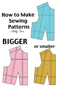 How to make a sewing pattern bigger or smaller - Pattern Grading tutorial - Melly Sews